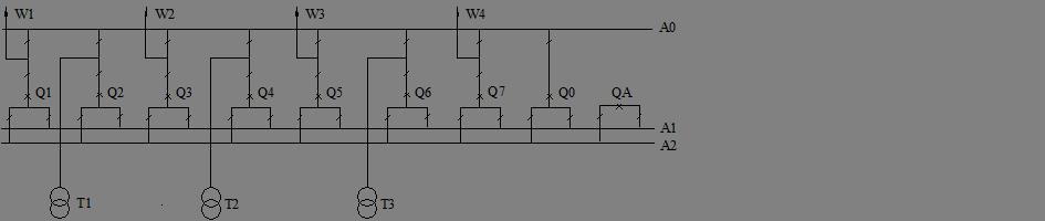 Схема ОРУ 110 кВ.